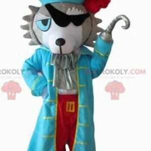 Husky dog mascot dressed as a pirate - Redbrokoly.com