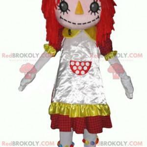 Scarecrow doll maskotjente med rødt hår - Redbrokoly.com