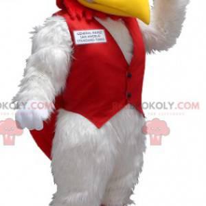 Maskot bílý a červený kohout - Redbrokoly.com