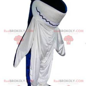 Giant blue and white shark mascot - Redbrokoly.com