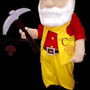 Miner bearded gold digger mascot - Redbrokoly.com