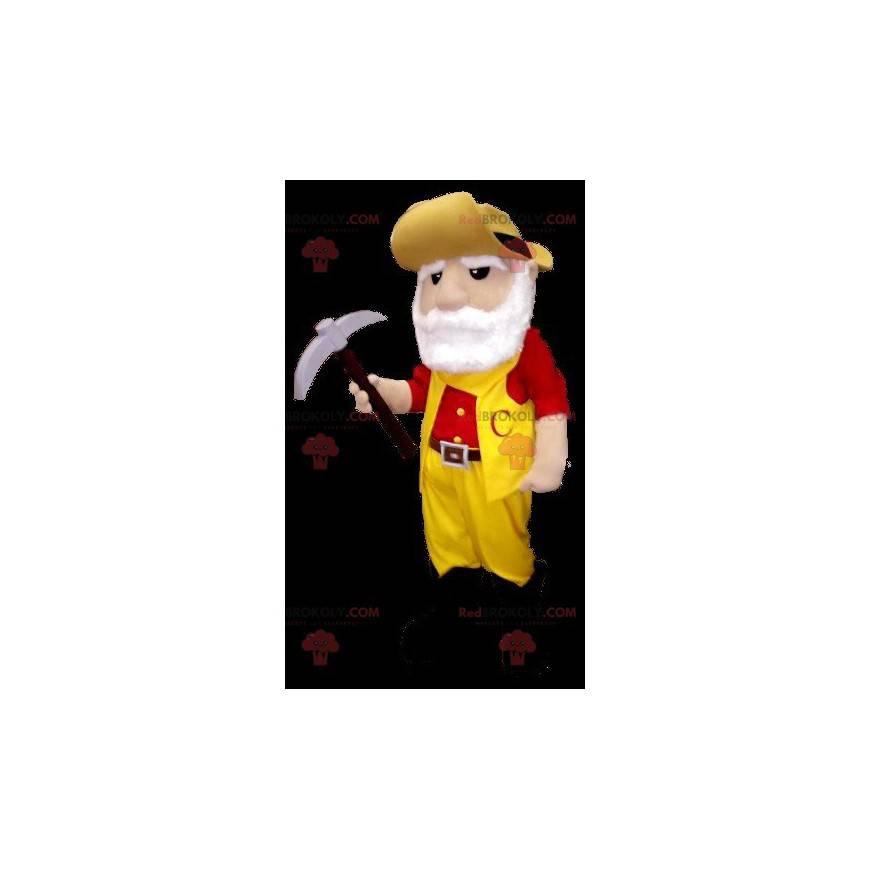 Miner skjegget gullgraver maskot - Redbrokoly.com