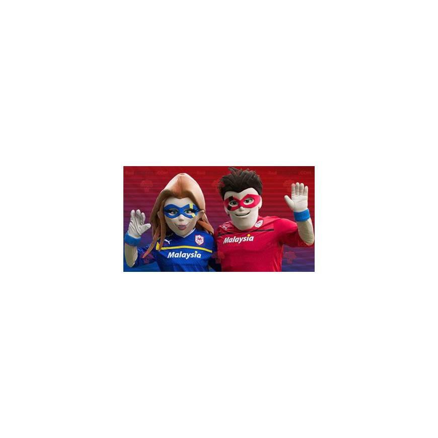 Superhrdina pár maskoti - Redbrokoly.com