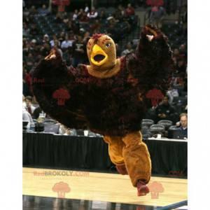 Velký maskot hnědého orla ptáka - Redbrokoly.com
