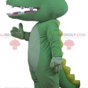Giant green and yellow crocodile mascot - Redbrokoly.com