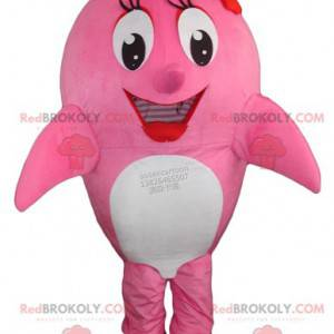 Whale pink and white dolphin mascot - Redbrokoly.com