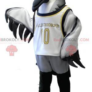 Maskotka ptak morski szary biały i czarny - Redbrokoly.com