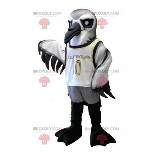 Mascot sjøfugl grå hvit og svart - Redbrokoly.com