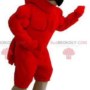 Velmi svalnatý červený orel maskot - Redbrokoly.com