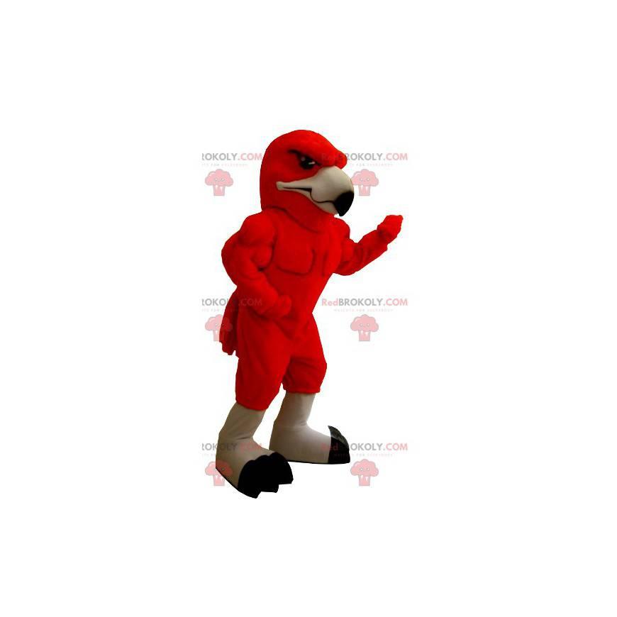 Very muscular red eagle mascot - Redbrokoly.com
