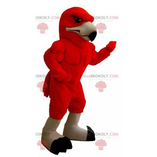 Veldig muskuløs rødørn maskot - Redbrokoly.com