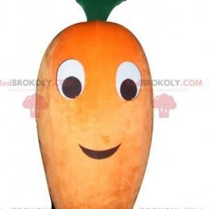 Gigantyczna pomarańczowa i zielona maskotka marchewki -