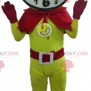 Maskot superhrdiny s hodinovou hlavou - Redbrokoly.com