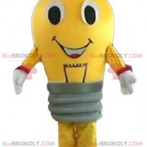 Obří žlutý a červený žárovka maskot - Redbrokoly.com