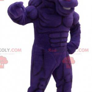 Velmi svalnatý fialový maskot koně - Redbrokoly.com