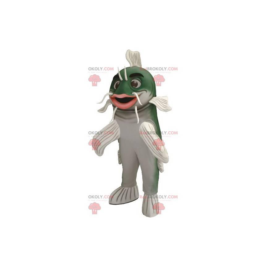 Grønn og hvit steinbit maskot - Redbrokoly.com
