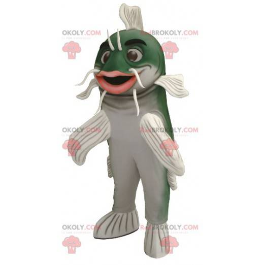 Green and white catfish mascot - Redbrokoly.com