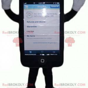 Riesiges schwarzes Touch-Handy-Maskottchen - Redbrokoly.com