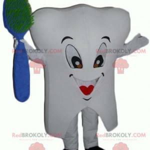 Maskotka gigant biały ząb z pędzelkiem - Redbrokoly.com