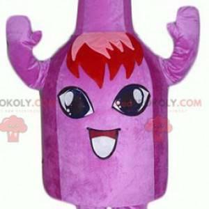 Very smiling purple bell carton mascot - Redbrokoly.com
