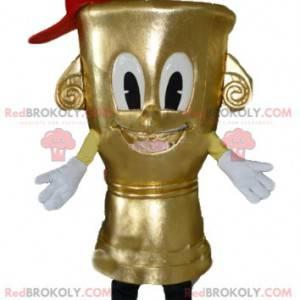 Very cute and smiling candlestick mascot - Redbrokoly.com