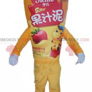 Riesiges Maskottchen mit gelbem Soßentopf - Redbrokoly.com