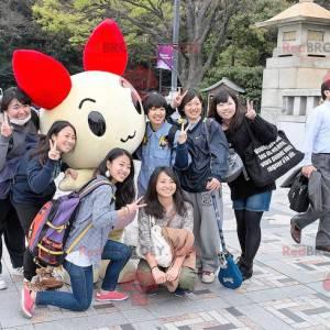 Yellow and red cat mascot - Redbrokoly.com