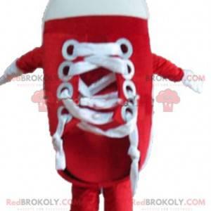 Gigantisk rød og hvit basketballsko maskot - Redbrokoly.com