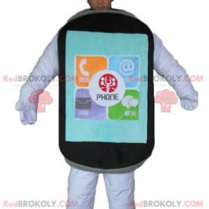 Giant black touch cell phone mascot - Redbrokoly.com