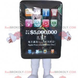 Gigantisk svart touch pad maskot - Redbrokoly.com