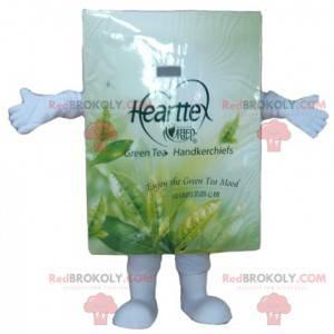 Hvit og grønn teposeeske maskot - Redbrokoly.com