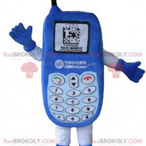 Maskot modrý mobilní telefon s klávesnicí - Redbrokoly.com