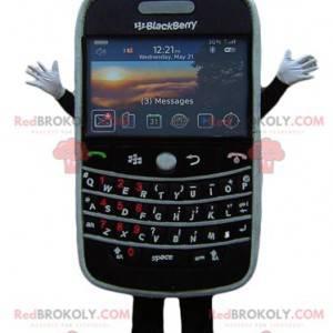 Gigantyczna czarna maskotka telefonu komórkowego BlackBerry -