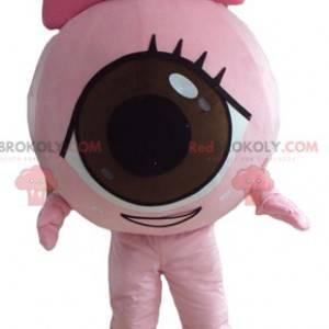 Obří růžové oko maskot všude kolem a roztomilý - Redbrokoly.com