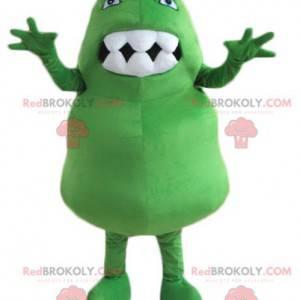 Gigantisk og morsom grønn dinosaur-maskot - Redbrokoly.com