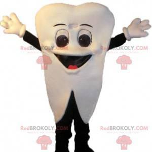 Obří a usměvavý bílý zub maskot - Redbrokoly.com