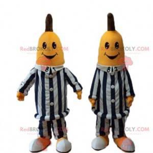 Bananenmaskottchen im australischen Karikaturpyjama -