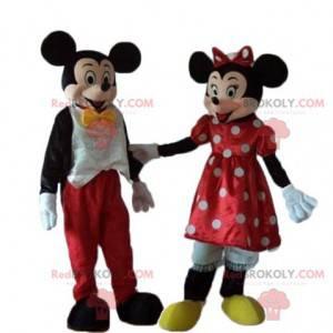 2 mascotes de Minnie e Mickey Mouse muito bem-sucedidos -