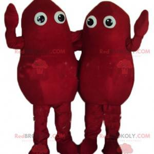 2 maskoter med røde poteter - Redbrokoly.com
