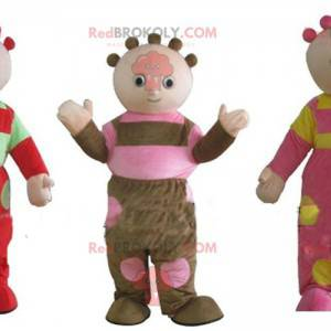 3 zabawne i kolorowe maskotki lalki - Redbrokoly.com