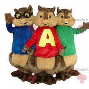 3 maskoti veverek od Alvina a Chipmunků - Redbrokoly.com