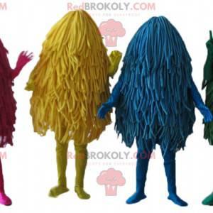 4 mascots of colorful mops and mops - Redbrokoly.com