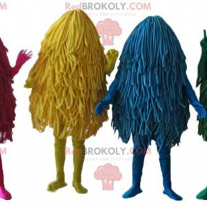 4 Maskottchen mit bunten Mops und Mops - Redbrokoly.com