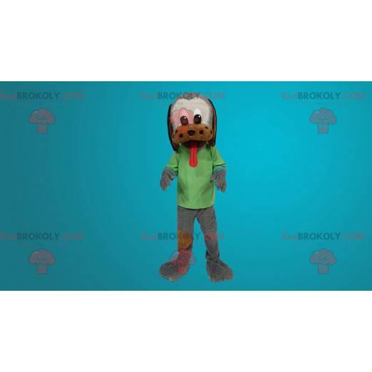 Trikolorní psí maskot s velkým jazykem - Redbrokoly.com