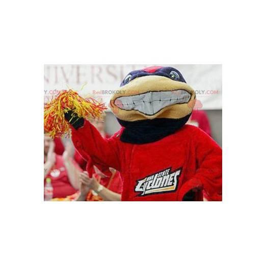 Modrá a červená želva maskot - Redbrokoly.com