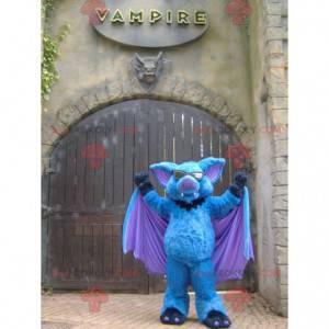 Modré fialové a černé bat maskot - Redbrokoly.com
