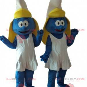 2 mascotte del personaggio dei cartoni animati di Puffetta -