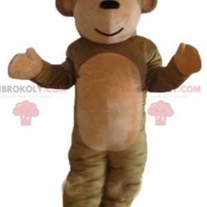 Cute and sweet brown monkey mascot - Redbrokoly.com