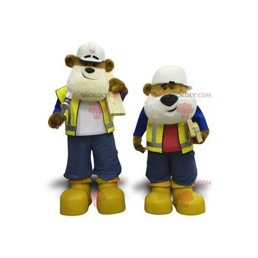 2 maskoti DIY medvědů - Redbrokoly.com