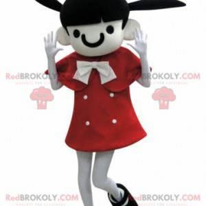 Braunes Mädchenmaskottchen mit Eselsohren - Redbrokoly.com